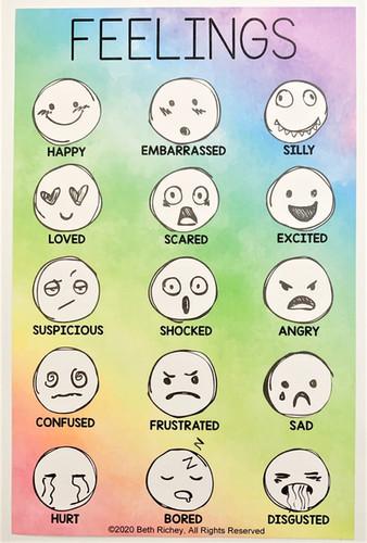 "Feelings Chart 8.5"" x 5.5"""