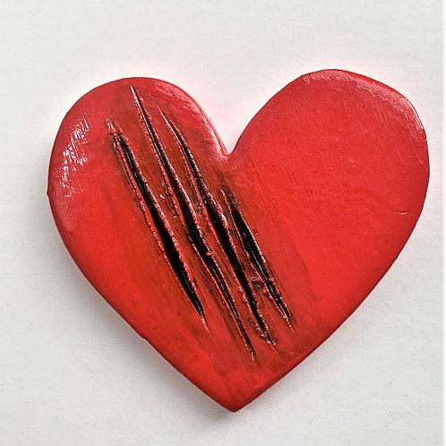 Large Heart-Slashed