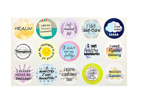 Therapy Stickers- 15 each