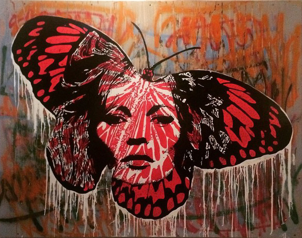 Dripping Butterfly