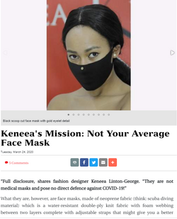Keneea's Mission: Not Your Average Face Mask