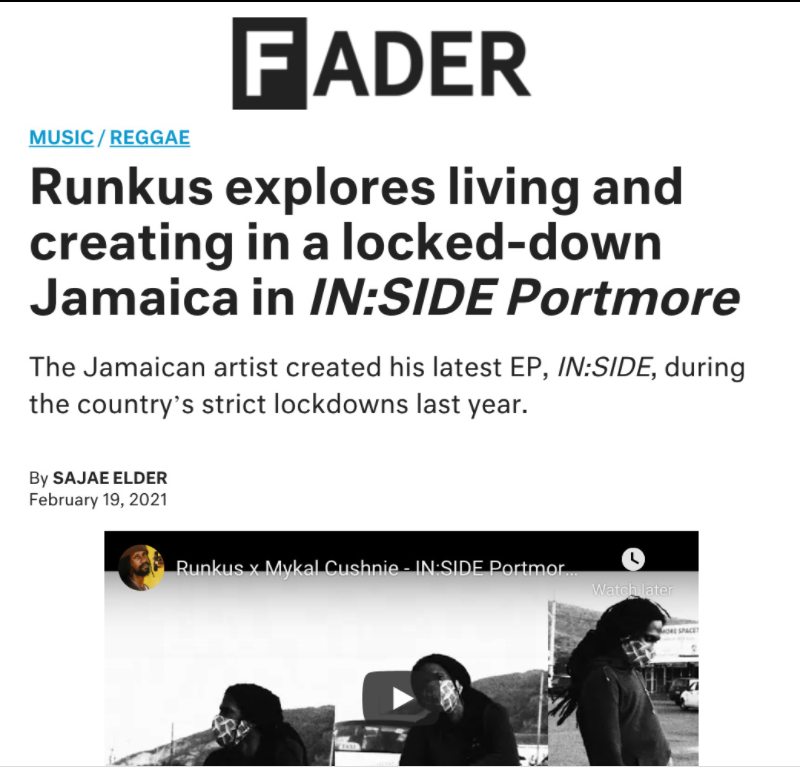 Runkus explores living and creating in a locked-down Jamaica in IN:SIDE Portmore