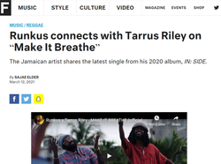 """Runkus connects with Tarrus Riley on """"Make It Breathe"""""""