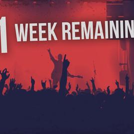 1 WEEK REMAINING