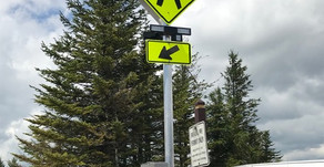 New Crosswalk Warning Sign Installed!