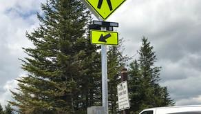 New Crosswalk Warning Sign Installed!