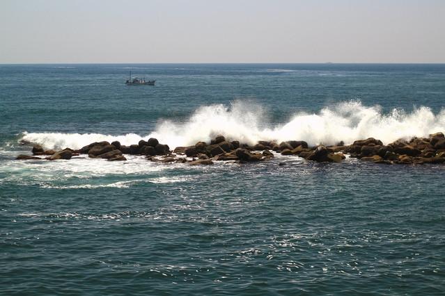 波の荒い日