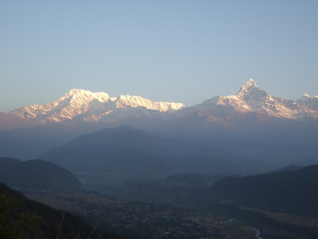 ネパール マチャプチャレの山並み
