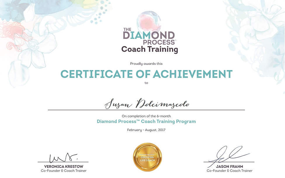 Diamond Process Certificate