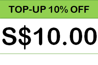 S$10.00 TOP-UP CARD