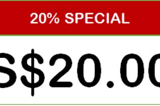 SPECIAL 20% DISCOUNT