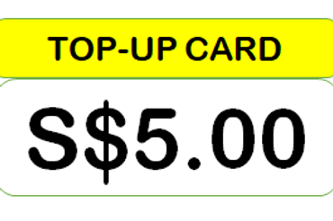 S$5.00 TOP-UP CARD