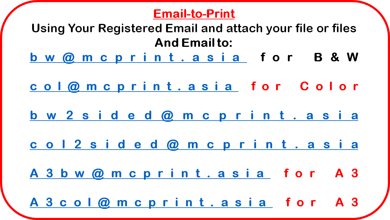 INSTRUCTION GUIDE - EMAIL-TO-PRINT