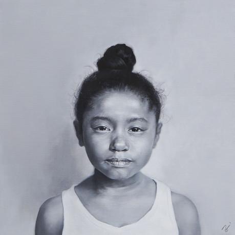 Yusa / 2019 / Oil on canvas / 41 x 41 x 2 cm