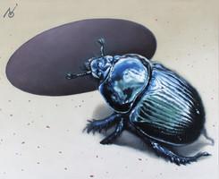 The Crawler 2. / 2020 / Oil on canvas / 27 x 22 cm
