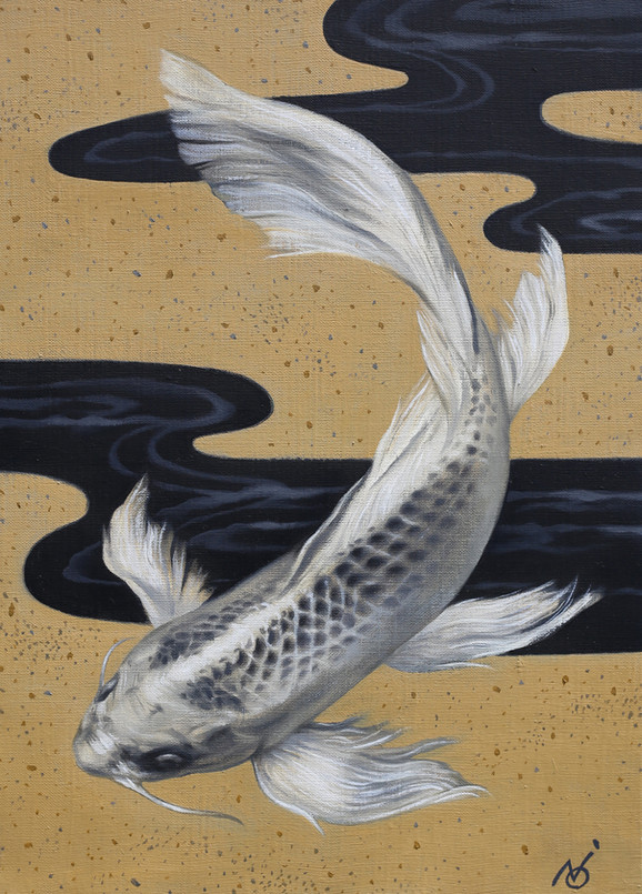 Uninterrupted Stream / 2018 / Oil on canvas / 27.3 x 41 x 2 cm
