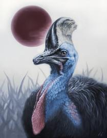 Legendary Blue ~Cassowary~ / 2021 / Oil on canvas / 53 x 41cm