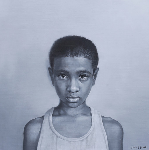 Samuel / 2018 / Oil on canvas / 41 x 41 x 2 cm