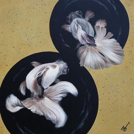 Fragile Leap / 2019 / Oil on Canvas   41 x 41 x 2 cm