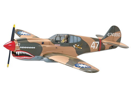 P-40 ReadyToFly  Warbird Elétrico  64,5cm asa - completo Art-Tech