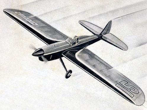 Aeromodelo Spectre 25 VCC + Esquadros (brinde) - Kit