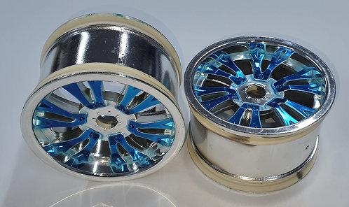 Rodas cromadas - Cubo azul (par) - Nanda