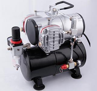 Compressor FENGDA de 2 cabeçotes c/ tanque de 3L