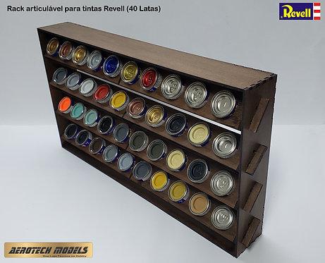 Rack organizador articulável - p/ 40 latas tintas Revell