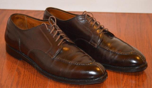 Alden 964 Double oak leather outsoles before