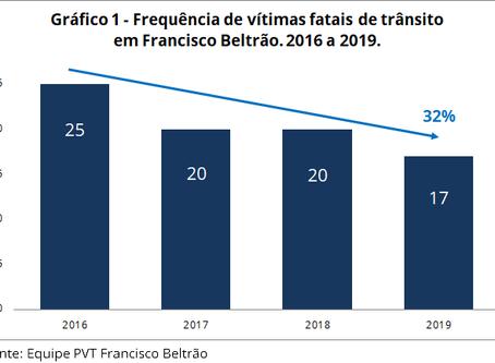 Francisco Beltrão reduz mortes no trânsito em 32% com o Programa Vida no Trânsito