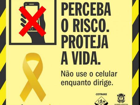 Maio Amarelo: psicóloga alerta para os riscos que a 'nomofobia' representa no trânsito