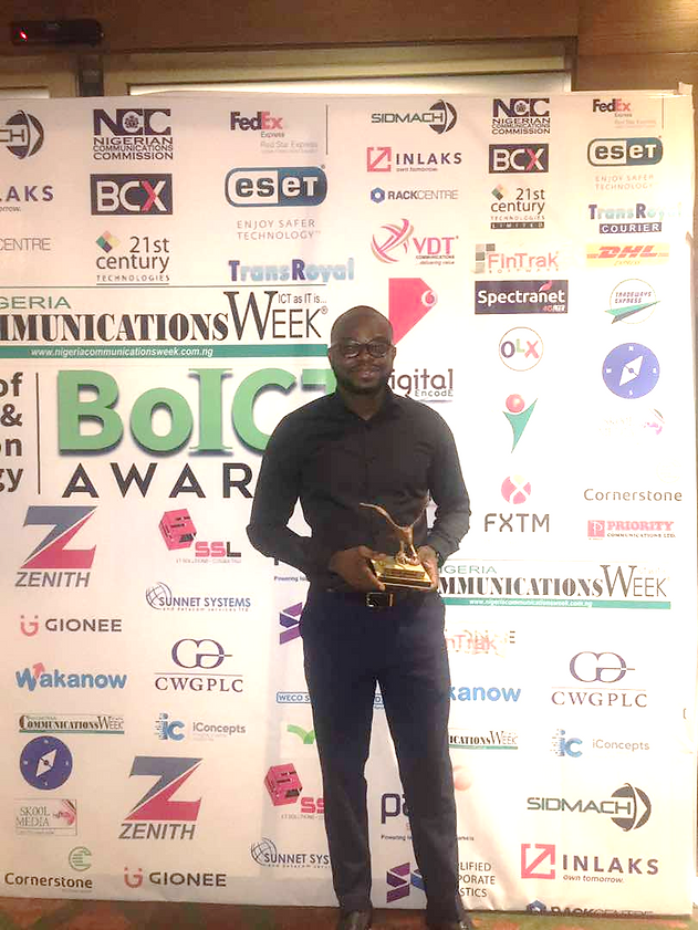 CEO, i-naira.com Receives Technology Innovator of 2016 in the ICT sector