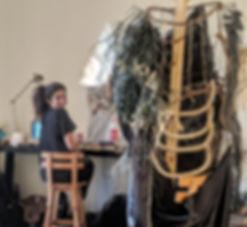 American Arab artist Bana Kaplan at HIZZ residency