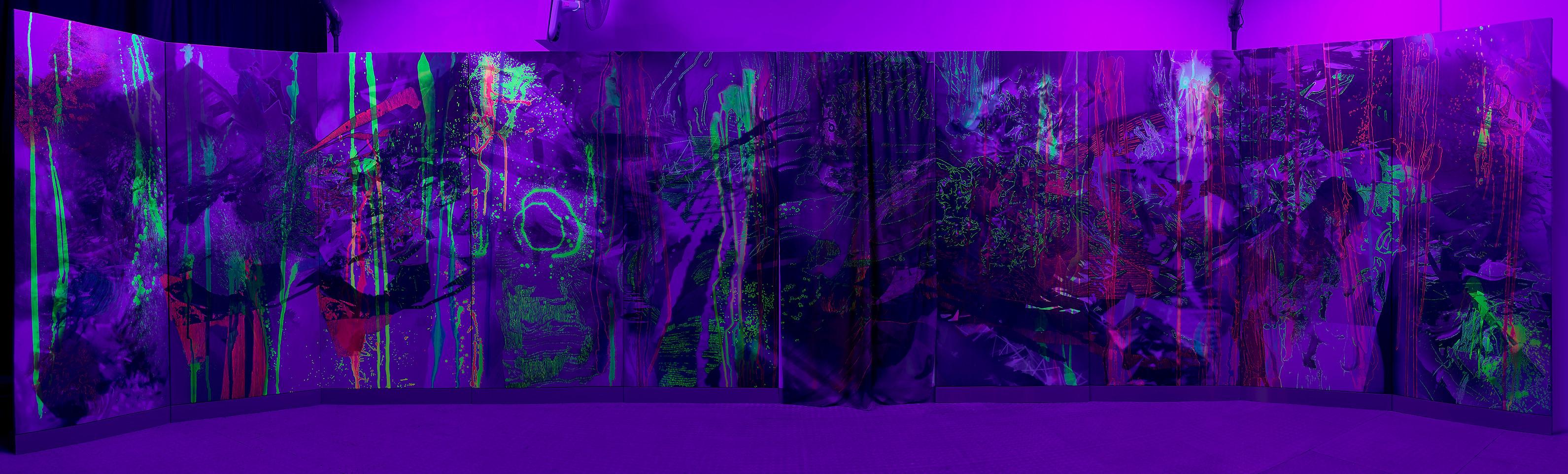 UV Grotto Panels 1-10 decaptych