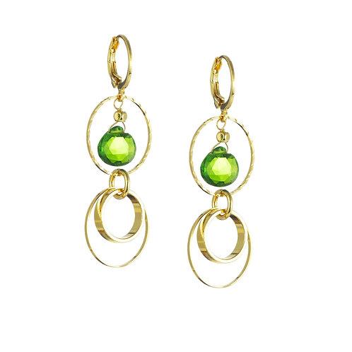 Boucles d'oreilles Arabella - vert