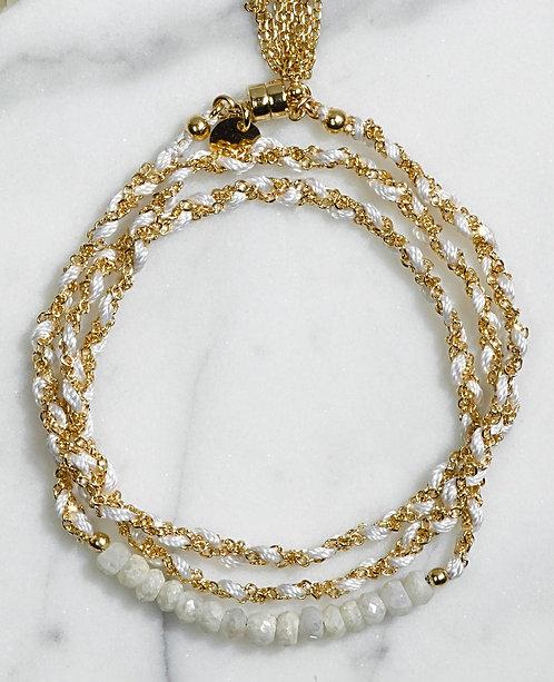 Bracelet Maxi Couture - Quartz blanc