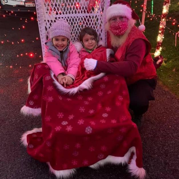 We are wearing Santa's Jacket