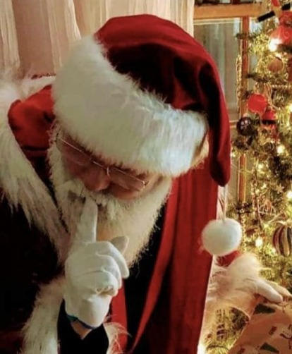 Santa says shhhhh!