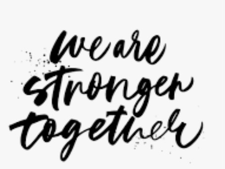 In It Together. Thankyou for sticking together... YOU MATTER