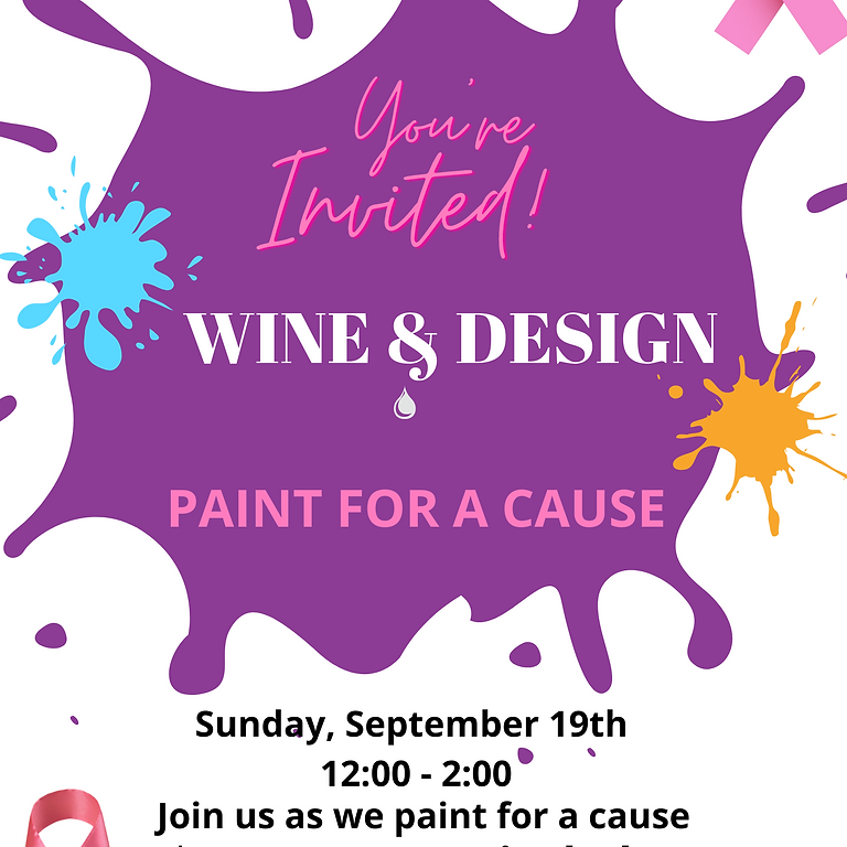 Wine & Design Paint for a Cause