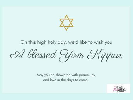 Wishing you a good fast on Yom Kippur