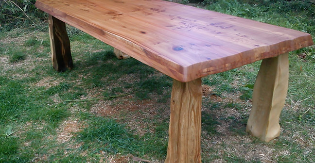 flintstone sculpted dining table