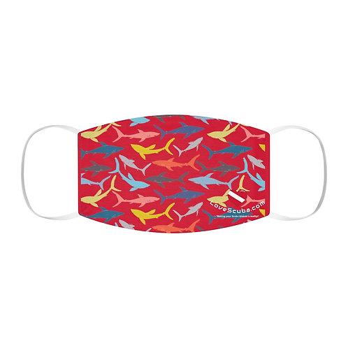 LoveScuba - Sharks - Snug-Fit Polyester Face Mask