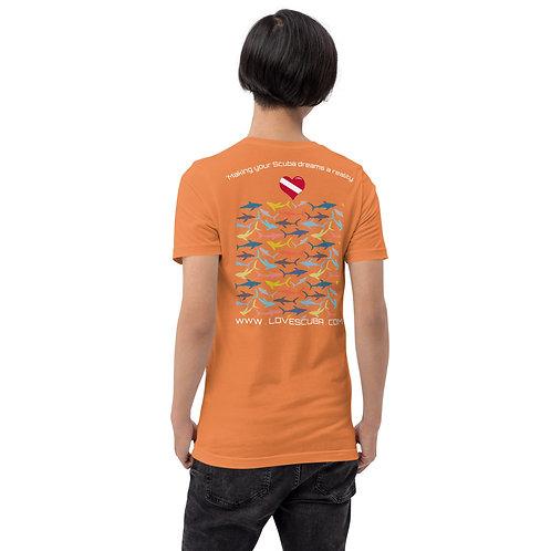 LoveScuba Shark Art Edition Short-Sleeve Unisex T-Shirt