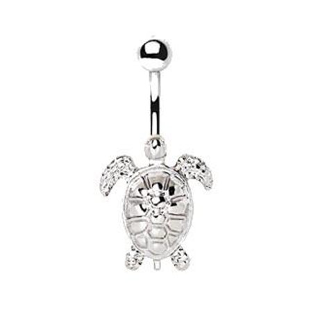 316L Stainless Steel Sea Turtle Navel Ring