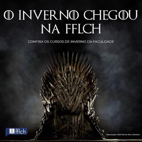 A divulgação dos cursos de inverno também coincidiram com a exibição de Game of Thrones