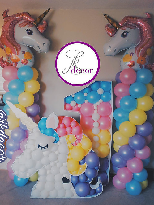 Balloon Columns with Foil Toppers