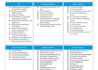 2020-21 School Supplies List