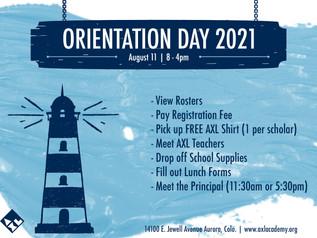 Orientation Day | August 11, 2021