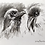 Thumbnail: Raven charcoal drawing on paper  #03 - A5 148mm x 210mm